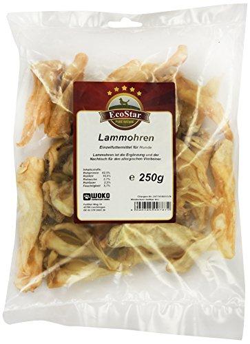 Artikelbild: EcoStar Hunde Snack Lammohren 250g, 1er Pack (1 x 250 g)