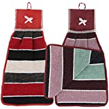 Kuber Industries Hanging Cotton 2 Pieces Cotton Washbasin Napkin/Hand Towel for Kitchen and Bathroom (Multi) - CTKTC45544