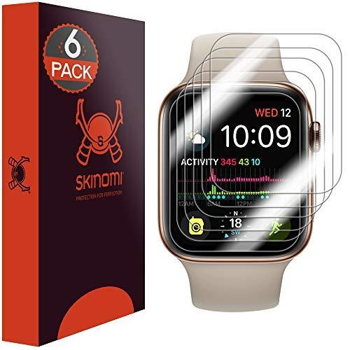 Skinomi TechSkin, Schutzfolie für Apple Watch Series 4-40 mm. wasserabweisend, 6er Pack