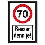DankeDir! 70 Jahre Besser n je, PVC Schild - Geschenk 70. Geburtstag, Geschenkidee Geburtstagsgeschenk Zum Siebzigsten, Geburtstagsdeko/Partydeko/Party Zubehör/Geburtstagskarte