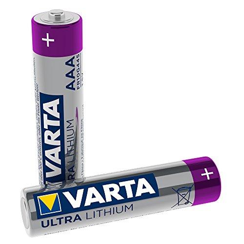 Varta Lithium Batterie AAA Micro Batterien LR03-2er Pack (Design kann abweichen)