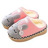 SITAILE Jungen Mädchen Winter Pantoffeln Slippers Schuhe mit Plüsch gefüttert Wärme Weiche Rutschfeste Hausschuhe Für Kinder Baby Home Rosa 19/22