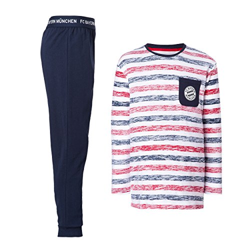 Kinder Schlafanzug + gratis Sticker München forever, FC Bayern München, pigiama, pajamas, pijama, 睡衣, パジャマ, منامة (152)