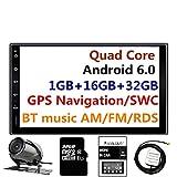 Panlelo PA09YZ32, In dash 2 Din 7 Pulgadas Completo HD Pantalla Táxil Head Unit Android 6.0 Navegación GPS Estéreo de Coche Quad Core 16GB + 32GB Flash Bluetooth AM/FM/RDS Wi-Fi Cámara Retrovisora
