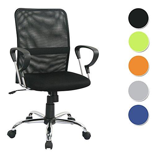 SixBros. Poltrona sedia ufficio sedia girevole nero - H-8078F-2/1322