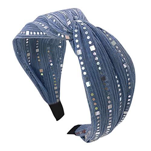 Younthone Damen Kristall Stirnband Stoff Haarband Kopf wickeln Haarband Zubehör speciales neues Design für Damen Braut Haarklammern Kopfband Haarspange
