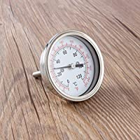Termómetro para barbacoa Termómetro industrial para un Moonshine Still Condenser Brew Pot Instrumentos de temperatura Acero inoxidable Caliente (plata)