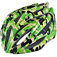 EP-Helmet Casco De La Bici De Montaña, 21 Respiraderos, Código, con El Ajustador,Green