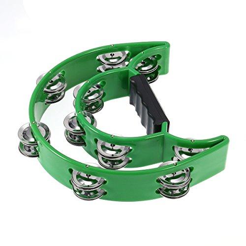 Tamburin rosenice Tamburin mit Untertassen doppelt von Kunststoff Pre Geschenk in Grün