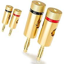[4 piezas] deleyCON Kit Conectores Banana Sets / bafles / amplificadores / receptores AV / transformadores de salida / hi-fi / equipos stereo