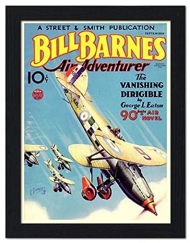 Bill Barnes Air Adventurer, Pulp Magazine Cover, 1934 - Framed