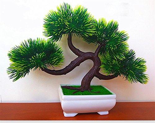 artificial Bonsái Bonsai sintético decorativo Artificial flor de la planta con Potted Decoración tabla sala estar afortunada Feng Shui Decorativa árboles floración , #103