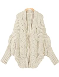 Minetom Femme Sexy Pull Tricot Manches Chauve Souris Cardigan Jumpers Sweater Hauts Sweatshirt