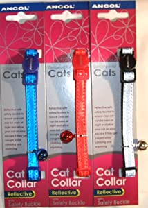 Ancol Safety Buckle Cat Collar Gloss Reflective 20g from Ancol