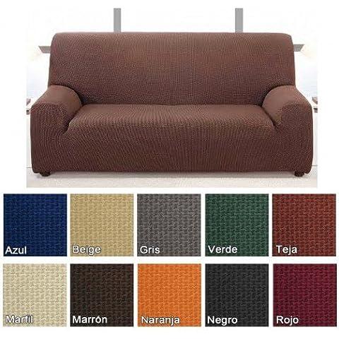 Funda de sofá bielástica Alaska, color Marfil, 4 plazas