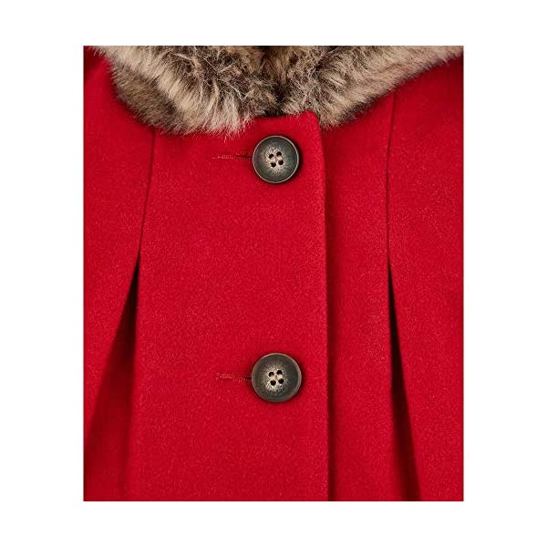 Mothercare Flow Wool Blend Coat with Hood Red Abrigo para Bebés 4