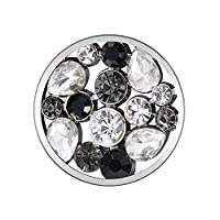 Meilanty Black & White Gem Melody Crystal Interchangeable Coin GP-29