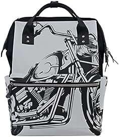 coosun Skull Rider auf Klassische Motorrad Wickeltasche Rucksack gro/ßes Fassungsverm/ögen muti-function Reise Rucksack