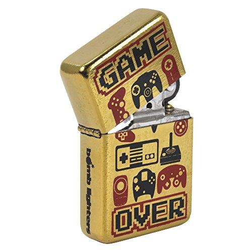 Windfestes Feuerzeug, Motiv: Retro-Controller Coole Geschenk für Retro-Gaming-Fans.