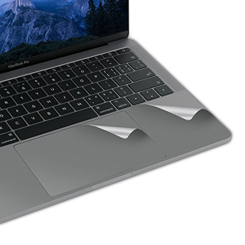 Lention Palm Rest Cover Skin with Trackpad Protector for MacBook Pro (13-inch, 2016-2019, 2/4 Thunderbolt 3 Ports), Protective Vinyl Decal Sticker (Space Grau) (Palm De)