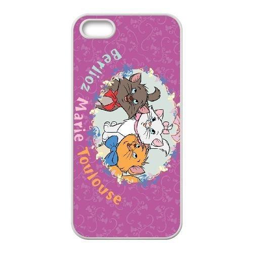 iphone5 5s White phone case Disney Cartoon Comic Series The Aristocats QBC3077648