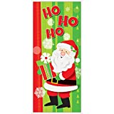 Unique Party 49837plastica Happy Babbo Natale Poster da porta, 152,4x 68,6cm