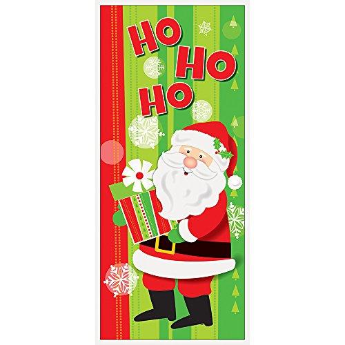 Unique Party 49837plástico feliz Papá Noel Navidad