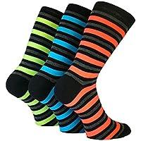 3Paar Herren Neon Rugby Stripe Teddy Boy Rock 'n 'Roll Fancy Kleid Socken/Größe UK 6–11Eur 39–45 preisvergleich bei billige-tabletten.eu