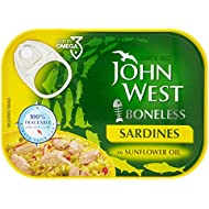 John West Boneless Sardines in Sunflower Oil, 95g