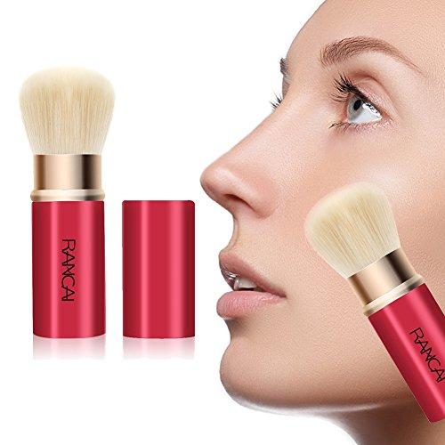 Allbesta Einziehbarer Kabuki Pinsel für Make-Up Puder Foundation Blending Blush, mit besonders weichem Synthetik-Haar, Retractable Brush -