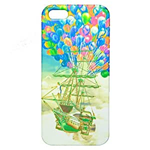 Flying Boat Print Plastic Back Case for Apple iPhone 5/5S