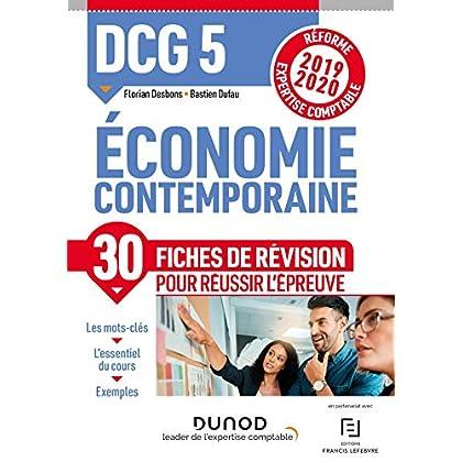DCG 5 Economie contemporaine - Fiches de révision - Réforme 2019-2020: Réforme Expertise comptable 2019-2020