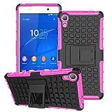 betterfon | Outdoor Handy Tasche Hybrid Case Schutz Hülle Panzer TPU Silikon Hard Cover Bumper für Sony Xperia Z3+ Pink