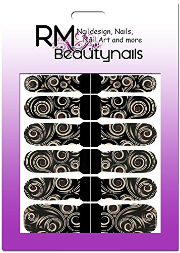 RM Beautynails Stickers nailw Rap Full Cover Stickers pour ongles One Stroke Stickers Nail Art Design abstrait