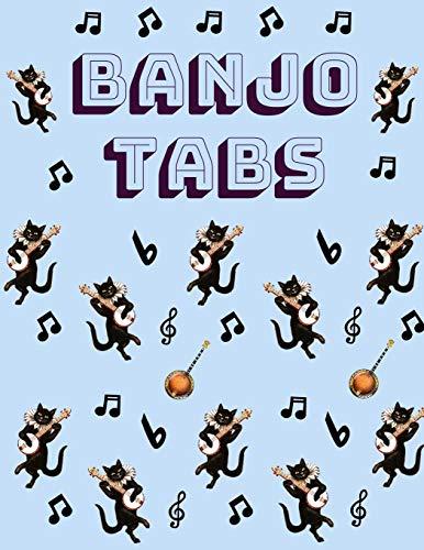 Banjo Tabs: Banjo Tabs für Anfänger   Leere Notenblatt mit Banjo Tabulatur für Banjo Lieder und -akkorde   Schreibe deine eigene Banjo Musik auf! (Banjo Notizbuch) (Einsteiger Gitarre Schwarz Elektrische)