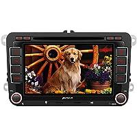 PUMPKIN Autoradio DVD Player für VW Golf Touran Polo Beetle Passat SEAT SKODA mit Navi 7 Zoll Bildschirm Unterstützt Bluetooth USB CD SD Rückfahrkamera CanBus Lenkradsteurung 2 DIN