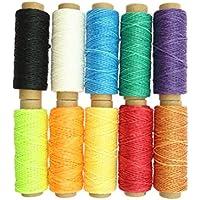 SUPVOX 10 unids 50 M Hilo de algodón Encerado Hilo de Costura Herramienta de artesanía de Costura de Mano de Hilo Suministros Hilo 150D