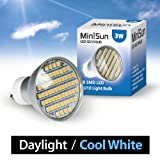 MiniSun Branded 3W Super Bright GU10 LED Bulb with 58 x SMD LEDs – 420 Lumens – Daylight