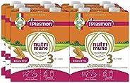 Plasmon Nutri-Mune 3, Biscotto Liquido, 12 x 500 ml