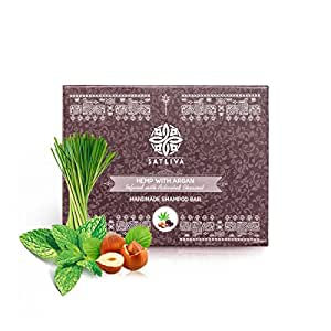 Hemp with Argan and Activated Charcoal Shampoo Bar (100gm)