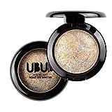 Yogogo Einzelner Gebackener Augen Schatten Puder Make-Up Paletten Schimmer Metallische Augenschminke Palette (09#)