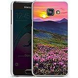 Samsung Galaxy A3 (2016) Housse Étui Protection Coque Prairie de fleurs Coucher de soleil Soleil couchant