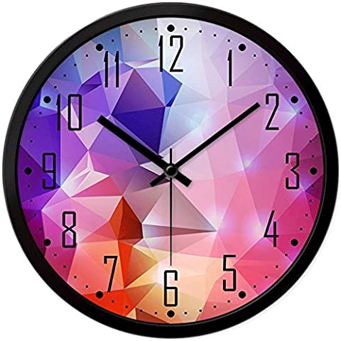 Schlafzimmer Wanduhren Modern Quiet große Uhr-Quarz-hängende Uhr ( Farbe : Black frame12 in )