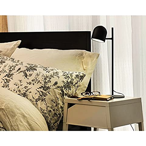 HOME I bambini imparano lampada Eye Desk Lamp lampada lavoro creativo LED Lampada da comodino per la lettura dormitorio ( colore : Nero