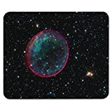 Weltraum 10084, Sterne, Designer Leder Mousepad Unterlage Mauspad Maus-Pad Stark Anti Rutsch Unterseite für Optimalen Halt mit Lebhaftes Motiv Kompatibel mit Apple Magic Maus. Ideal für Gamer und für Grafikdesigner