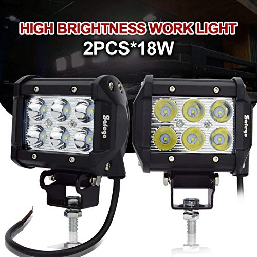 Safego C18W BH SP 2 2X 18W Led Luz de Trabajo 6...