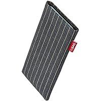 fitBAG Twist Grau Handytasche Tasche aus Nadelstreifen-Stoff mit Microfaserinnenfutter für Samsung Galaxy Note 3 N9000 N9002 N9005