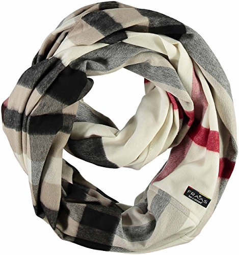 FRAAS Damenschal Snood Loop, 75 x 70 cm, Cashmink, Made in Germany Naturweiss