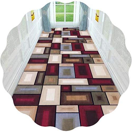 JIAJUAN Alfombra Pasillo Corredor 3D Impresión Multicolor Moderno Zona Alfombras Grandioso para Sala...