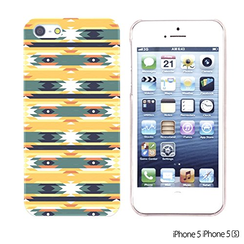 OBiDi - Geometrical Pattern Hardback Case / Housse pour Apple iPhone SE / Apple iPhone 5S / 5 - Funny Tribal Print Funny Tribal Aztec Pattern